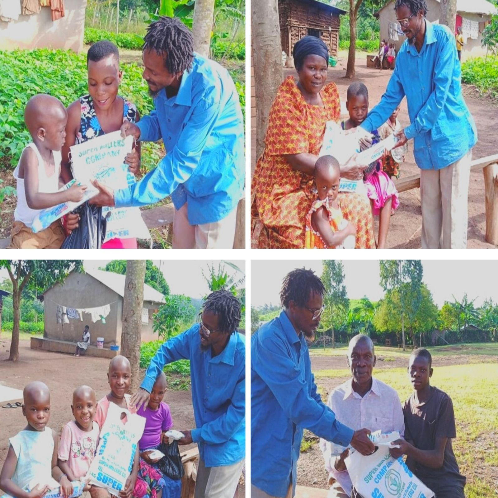Receiving maize flour and soap