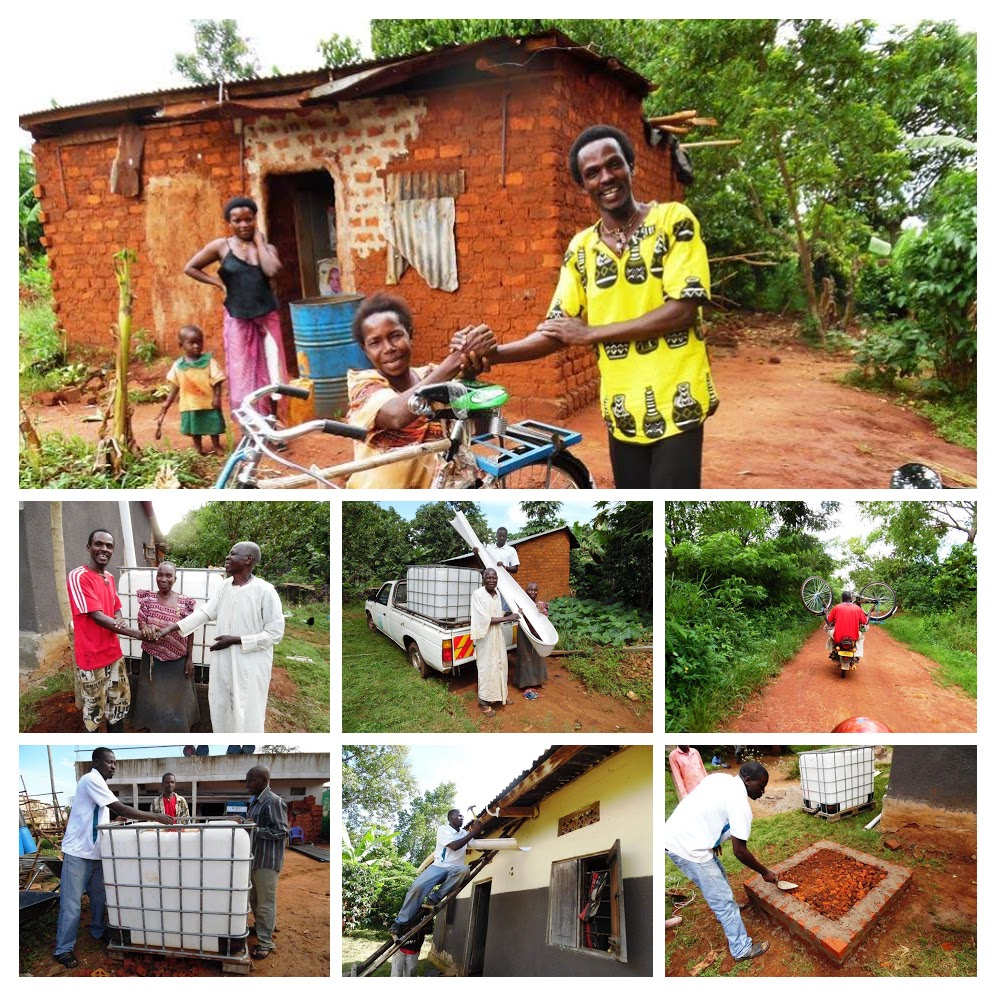 A Bicycle for a Disabled Woman and a Water Tank for an Elderly Couple