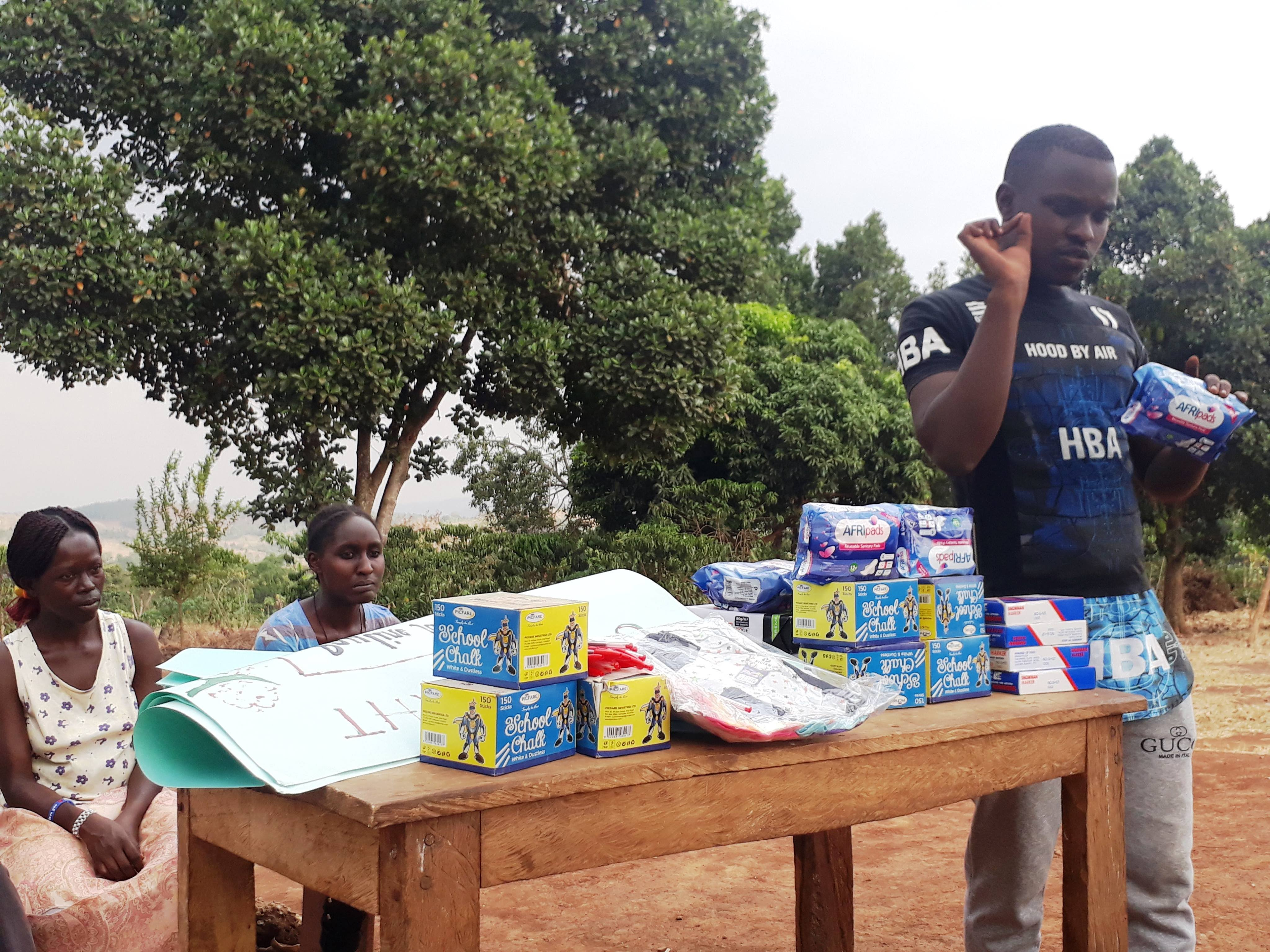 Donations of Sanitary Towels and Underwear