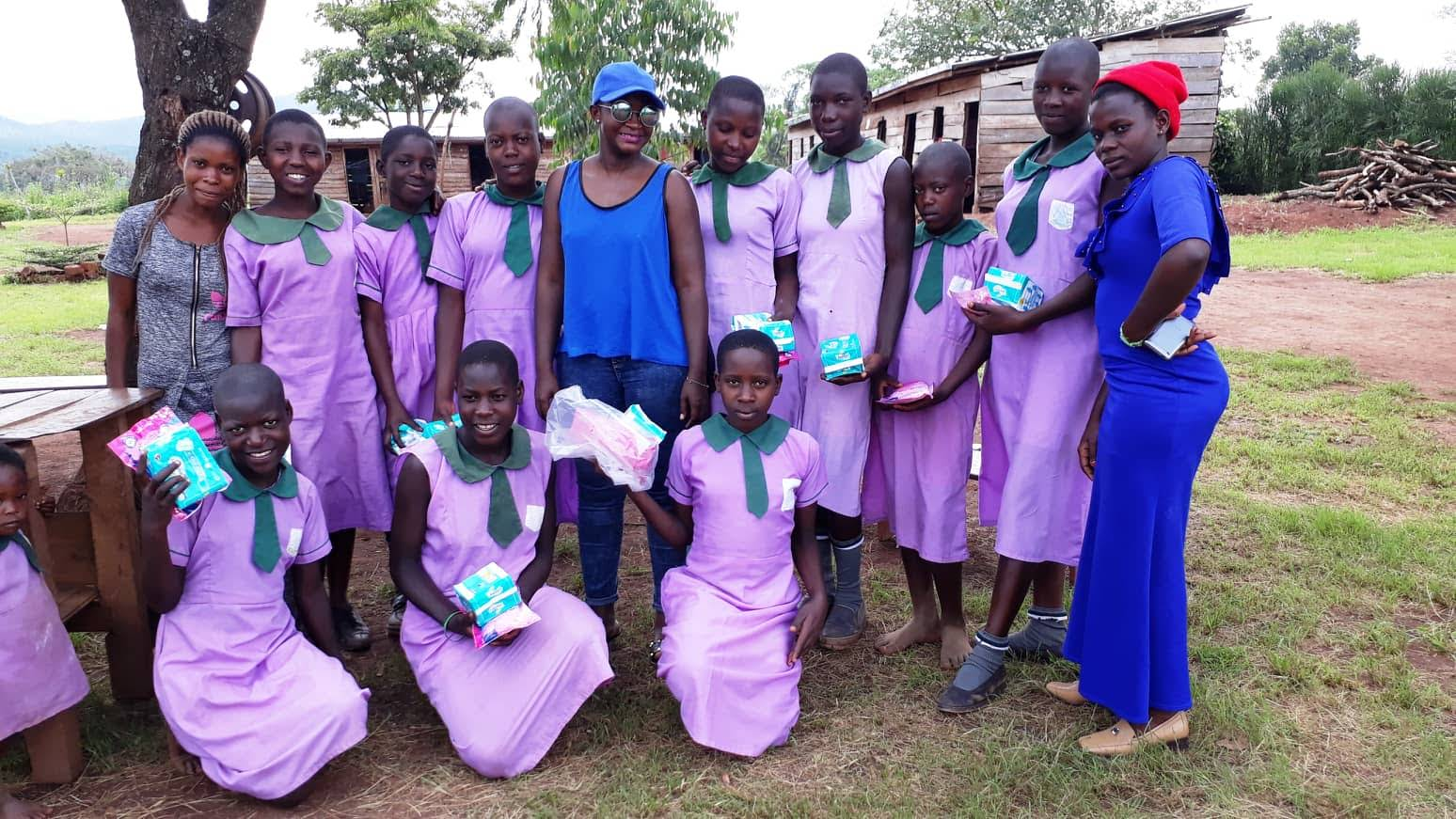 Visit to Starlight Family School to Provide Sanitary Towels